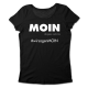 Moin – refugees welcome – tailliertes Shirt