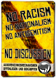 No Racism - No Discussion – 40 Aufkleber