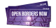 Open Borders Now – 40 Aufkleber