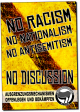No Racism - No Discussion –  Plakat
