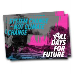 System Change, not Climate Change. All Days for Future! – 40 Aufkleber