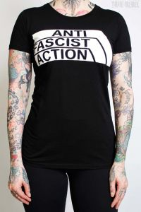Anti Fascist Action 2.0 – various colours – T-Shirt (waisted fit)