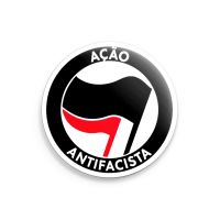 Açao Antifacista – großer Button