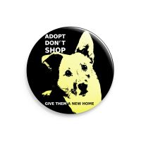 Adopt don't shop – großer Button