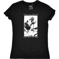 animals can't fight back … – tailliertes Shirt