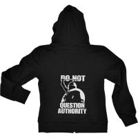 Do not question authority! – taillierte Kapuzenjacke