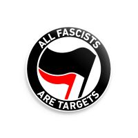 developAntifa: All fascists are targets – grosser Button