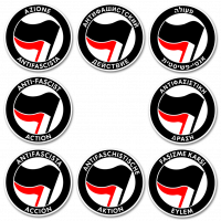 Anti-Fascist Action – 20 Stickers (different languages)