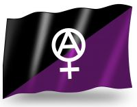Anarchafeminism – small flag