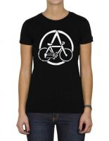 Anarchocyclist tailliertes Shirt