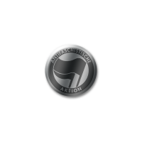 Antifaschistische Aktion silber Button