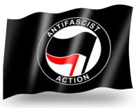 Antifascist Action – Fahne