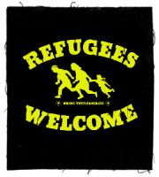 Refugees Welcome Patch / Aufnäher