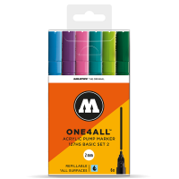 Molotow 127 HS  – 6x Marker Set – 2mm Tip – Basic 2 - Set