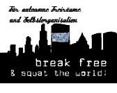 Break free & squat the world Postkarte