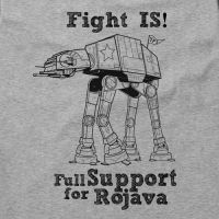 Fight IS! Full Support for Rojava! – Soli – tailliertes Shirt