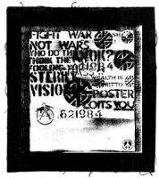 CRASS (Fight War, not Wars) Aufnäher