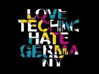 Love Techno Hate Germany – Siebdruckposter