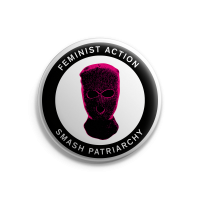 Feminist Action – Button – Groß