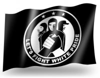LET'S FIGHT WHITE PRIDE FAHNE