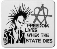 Freedom lives, when the state dies PVC-Aufkleber