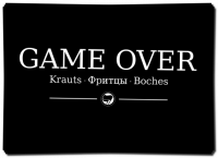 Game Over Krauts – 40 Aufkleber