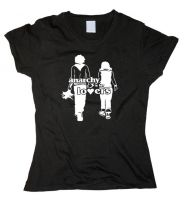 Anarchy is for Lovers – tailliertes Shirt