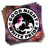 Good Night White Pride (Space) – 20 Aufkleber