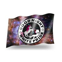 Good Night White Pride (Einhorn) – Fahne