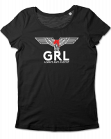 GRL - always anti-fascist – tailliertes Shirt