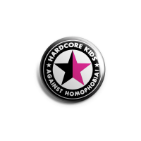 Hardcore Kids against Homophobia Button