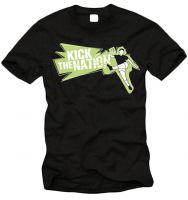 Kick the Nation! T-Shirt (hellgrüner Druck)