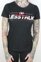 Less Talk - Straight Logo – tailliertes Shirt