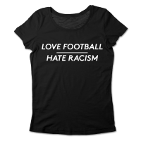Love Football – Hate Racism tailliertes T-Shirt