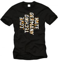 Love Techno Hate Germany #18 T-Shirt