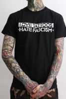 Love Tattoos, Hate Fascism – T-Shirt – Front