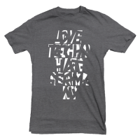 Love Techno – Hate Germany #27 (grau) T-Shirt