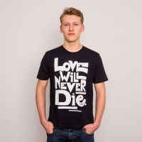 Neonschwarz – Love Will Never Die – T-Shirt