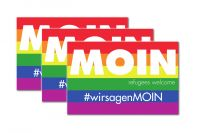 MOIN - Refugees Welcome Sticker