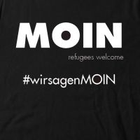 Moin - refugees welcome - Kinder Shirt