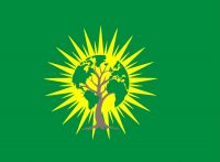 Make Rojava Green Again (Logo) – Fahne