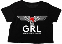GRL - always anti-fascist – cropped (bauchfrei) T-Shirt
