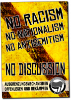 No Racism - No Discussion –  Poster
