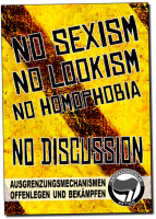 No Sexism - No Discussion! – Poster