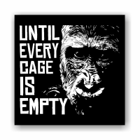 Until Every Cage is Empty (Gorilla) – Aufnäher