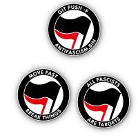developAntifa – 20 round Stickers – different versions