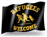 Refugees Welcome Fahne