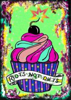 Riots not Diets – 40 Stickers
