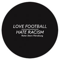 Love Football - Hate Racism Button