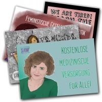 SAW feminist Layout – Aufkleber-Mix